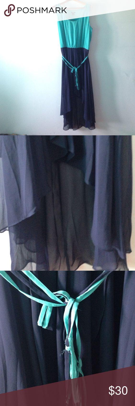 Teal and blue maxi dress Teal and blue maxi dress Dresses Maxi