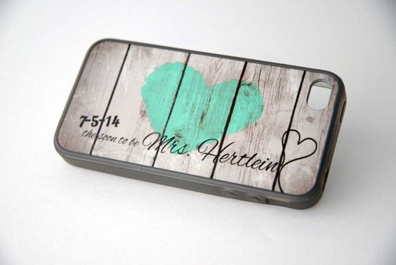 Mint Rustic Heart Soon to be Mrs Monogram Wedding by hhprint
