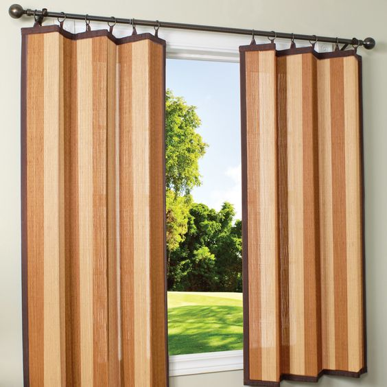 Indoor Outdoor Bamboo Ring Top Single Curtain Panel Products Pinterest Tops Curtains And