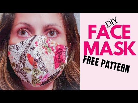 How To Sew The Best Fabric Face Mask Diy Fitted Fabric Face