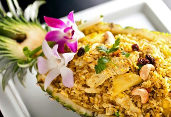 New Thai Recipes Authentic, Delicious!: Thai 'Heavenly' Fried Rice with Pineapple and Chicken