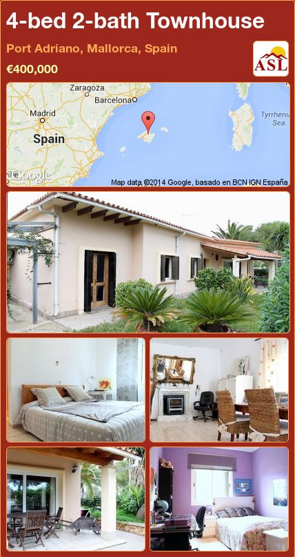 4-bed 2-bath Townhouse in Port Adriano, Mallorca, Spain ►€400,000 #PropertyForSaleInSpain