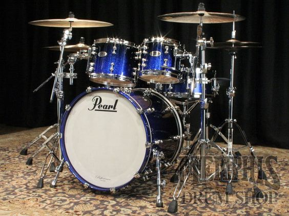 pearl reference pure drum set 22 10 12 14 16 14 ultra blue fade stuff to buy pinterest. Black Bedroom Furniture Sets. Home Design Ideas