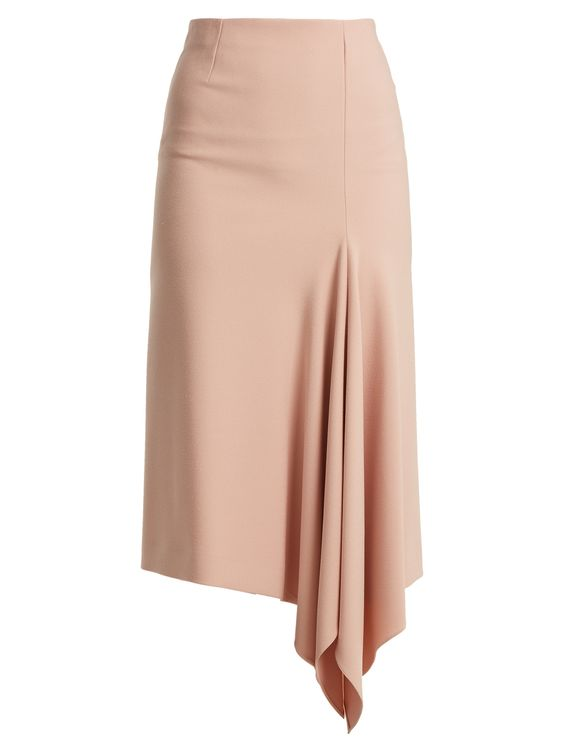 Morpeth asymmetric-hem crepe midi skirt | Roland Mouret | MATCHESFASHION.COM