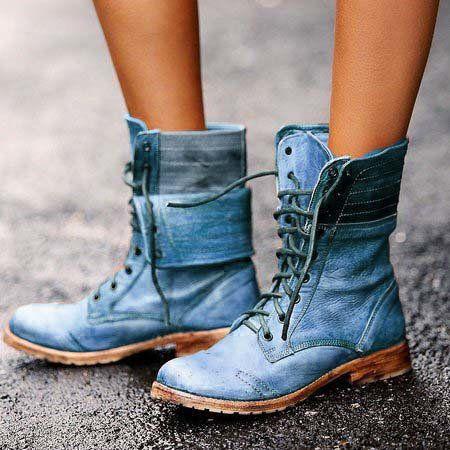 Winter Warm Herrenmode Boots Stiefel Retro Kampf Stiefel