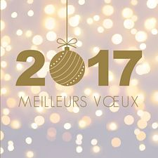 Sobres scintillements pour une nouvelle année en beauté ! 2017 sera placée sous le signe de la réussite en envoyant cette carte de voeux made in Popcarte.: