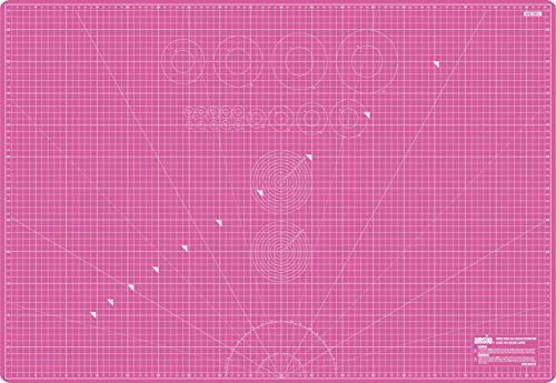 Ansio ® 90cmx A1 (60 cm) Double face auto-cicatrisant 5 couches de découpe impérial/métrique Rouge