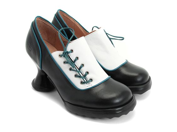 Fluevog Shoes | Shop | Bee's Knees (Black & White)