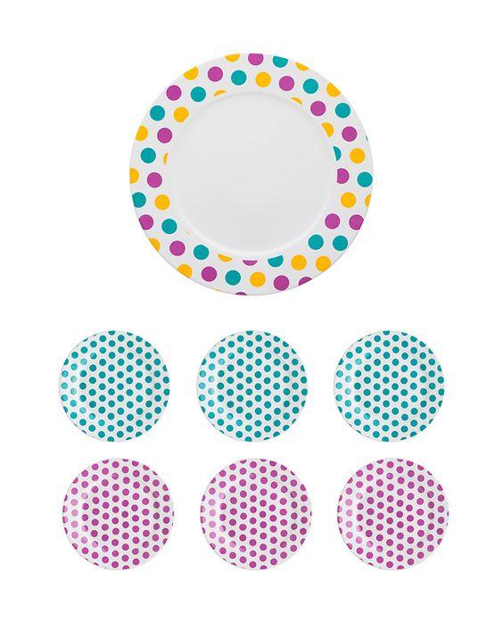 Oxford Porcelanas - Conjunto Bolo Dots