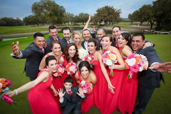 Hot pink wedding flowers by Flower Shack Blooms at The Dominion Country Club