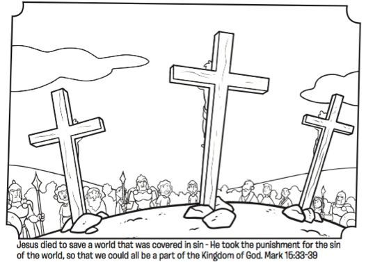 Jesus On The Cross Bible Coloring Pages Easter Coloring Pages