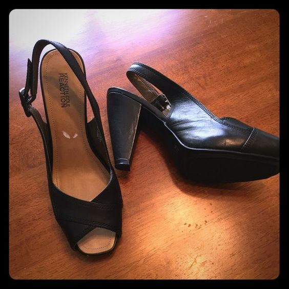 🎃LAST CHANCE🎃New Kenneth Cole black heels 8.5 Packing up all summer items after the weekend! Amazing black heels with peep toe by Kenneth Cole. Size 8.5 and very stylish. Excellent condition! Kenneth Cole Shoes Heels