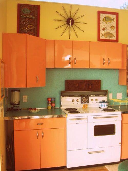 Retro interiors kitchen ideas pinterest retro and for Retro modern kitchen ideas