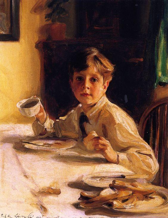 'Top o' the Morning: Stephen, the Artist's Second Son  Philip Alexius de László - 1912
