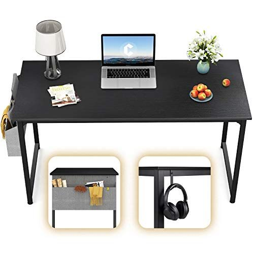 Cubicubi Computer Desk 40 Study Writing Table For Home Office Modern Simple Style Pc Desk Black Metal In 2020 Writing Table Simple Computer Desk Home Office Design