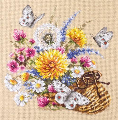 40-81 Kit Punto de Cruz Prado Flor Art