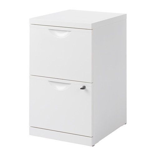 Office File Cabinet Steel White 2 Drawers Both Can Be Locked Lock And Key Included Filing Cabinet Ikea Filing Cabinet Ikea Erik