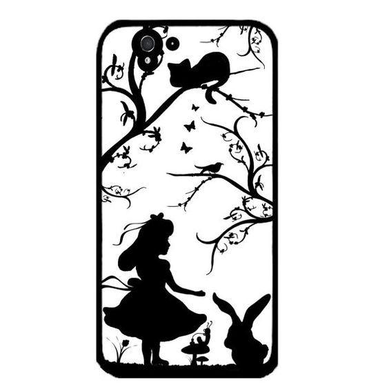 Alice in wonderland silhouette pretty by LikeYourFaceCases on Etsy, £6.99