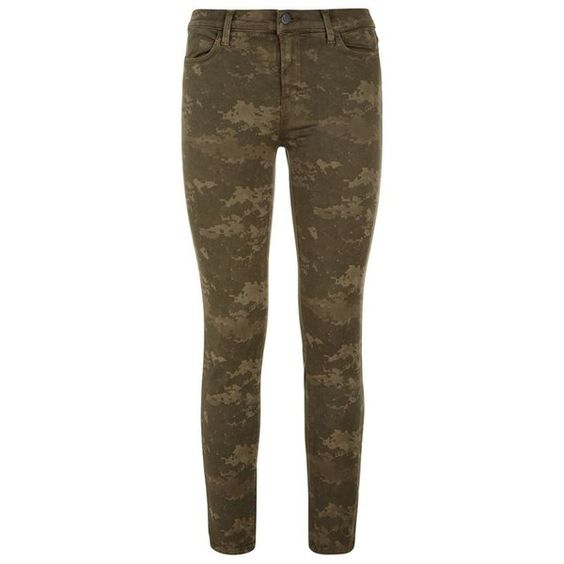 J Brand Photo Ready Camo Cropped Skinny Jean (2.460 DKK) ❤ liked on Polyvore featuring jeans, pants, bottoms, pantalones, mid-rise jeans, super skinny jeans, j-brand skinny jeans, skinny jeans and brown skinny jeans