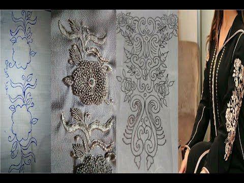 صور رشمات على الورق وتطبيق ديالها على توب Youtube Embroidery Printed Shower Curtain Prints