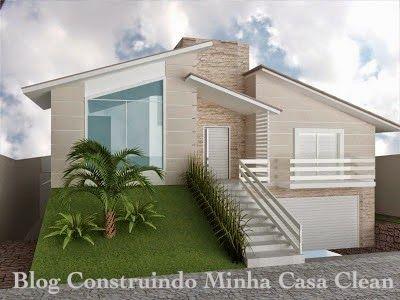 Fachadas de casas em terrenos em aclive e estreitos ems - Casas super pequenas ...