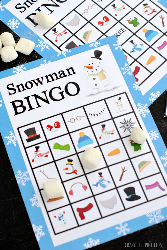 Free Printable Snowman Bingo Game | Crazy Little Projects