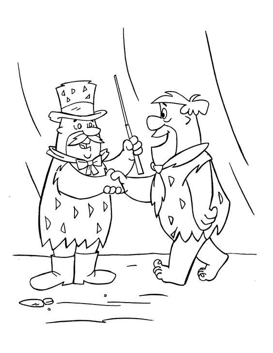Desenhos para pintar Os Flintstones 25