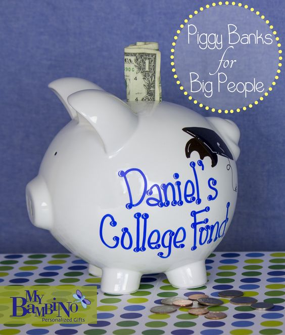 Personalized College Fund Piggy Bank Http Www Mybambino