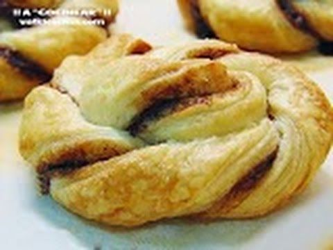 ESPIRALES DE HOJALDRE RELLENAS DE CHOCOLATE ( Nutella ) | ¡¡A COCINEAR!! Recetas valkicocina.com