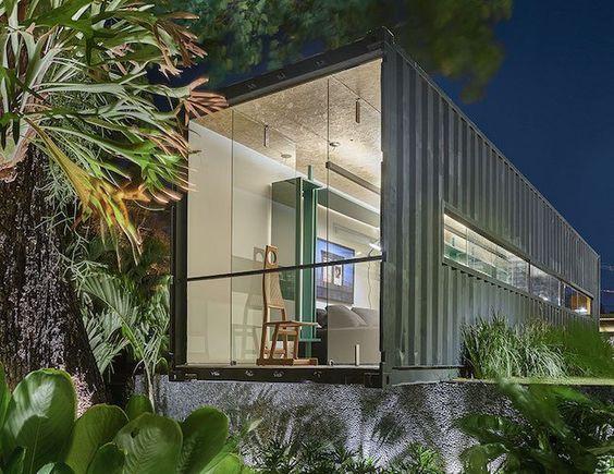 Casa em Container decorado