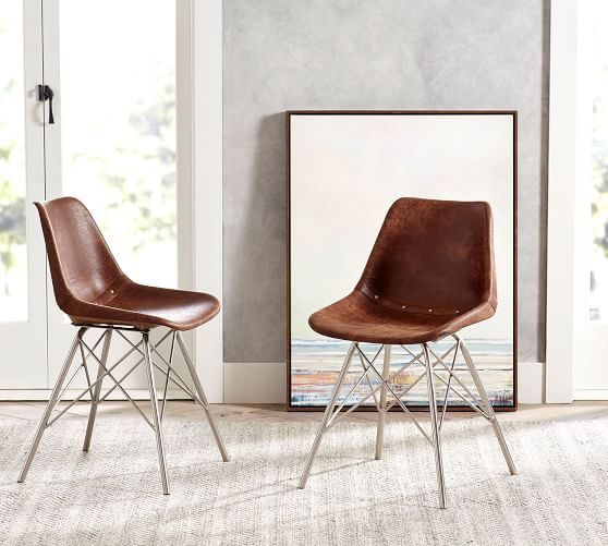 Pleasant Maud Leather Dining Chair In 2019 Dining Chairs Cheap Caraccident5 Cool Chair Designs And Ideas Caraccident5Info