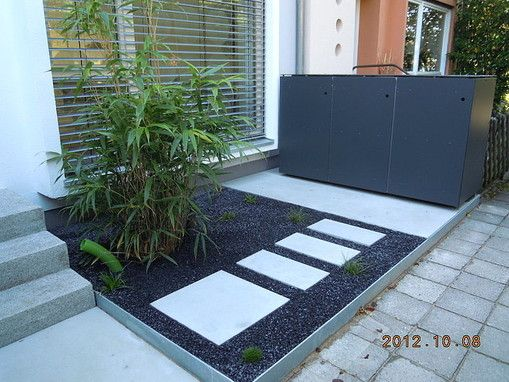 FRANKENGRÜN Grünanlagenbau einfach geile gärten - vorgarten in - moderner vorgarten mit kies
