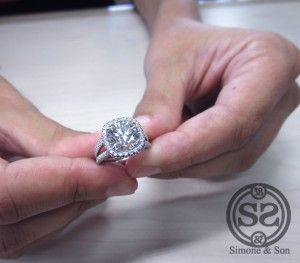 3 ct halo cushion cut ring. For the low low price of $35,000. I'm gonna keep on dreaming!
