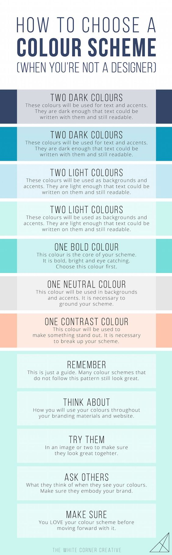 Your colour scheme is the base of your entire visual brand, so it's vital that you choose a good one. Here's how to pick a gorgeous scheme on your own.