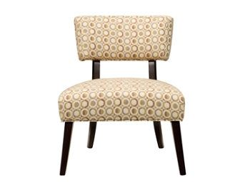 Sasha Chenille Armless Accent Chair | Add a touch of contemporary style to your living room with this accent chair.