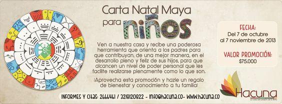 Promoción Carta Natal Maya para Niños!!