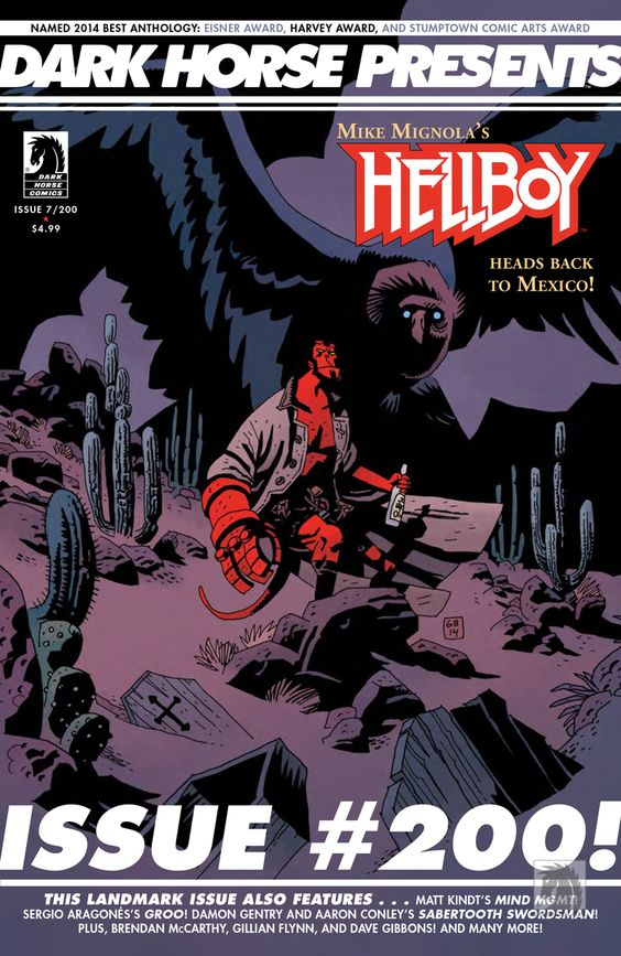 """""""Altogether, Dark Horse Presents #200 offers almost 80 pages of solid goddamn comic bookery, with a cover gallery thrown in for good measure. It is – in equal measure – fun, creepy, bizarre, thrilling, enigmatic, psychedelic, charming and insightful. Or in short, it is as William Trevor once said, """"the distillation of an essence"""" of what makes comic books so damn great. Congratulations, Dark Horse Presents. Here's to 200 more!"""" -Comic Bastards on DHP #7"""