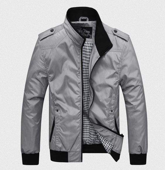 Men's Casual Jacket-Blue/Black/Grey | Men's Apparel | Pinterest ...