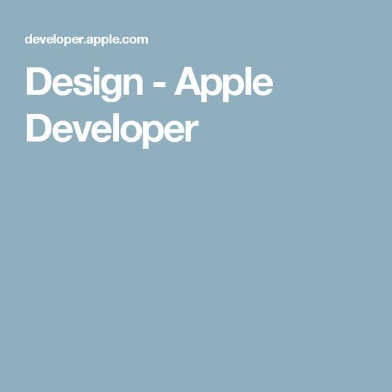Design - Apple Developer