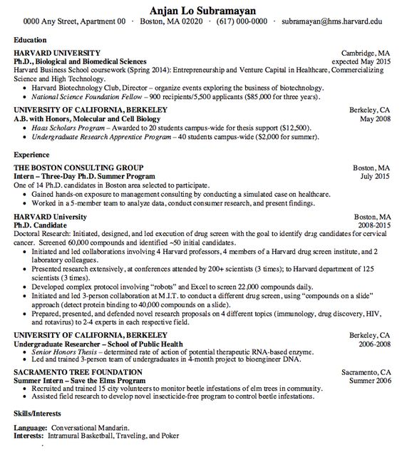 Biology Cv Examples - http\/\/resumesdesign\/biology-cv-examples - cdl truck driver resume