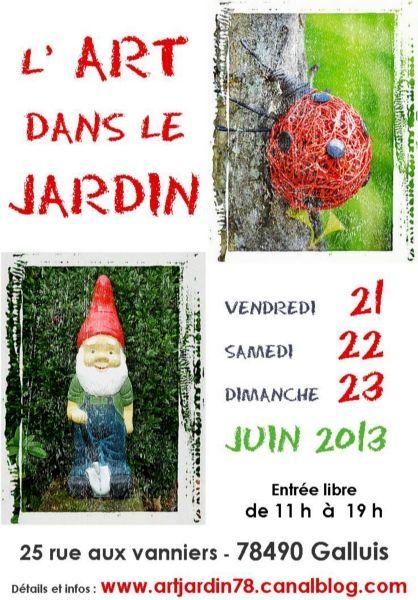 L'art dans le jardin du 21 au 23 juin 2013 http://www.pariscotejardin.fr/2013/06/l-art-dans-le-jardin-du-21-au-23-juin-2013/