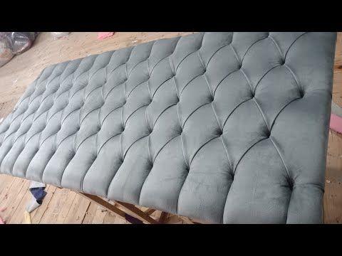 اتعلم ازاي تعمل كابتونيه عالي الدقه بدون اي اخطاء Youtube White Dressing Tables Furniture Upholstery