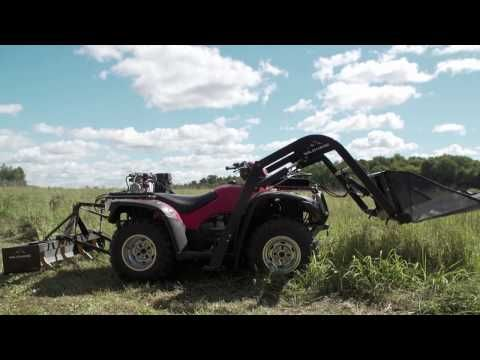 Videos Of The Atv Attachments Groundhog Atv Front End Loader In
