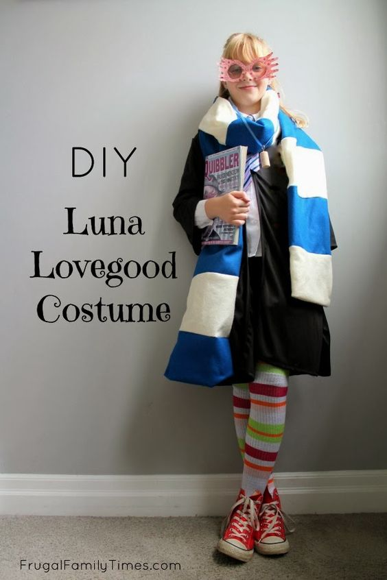 DIY Harry Potter Luna Lovegood Costume (made by our 9 year old! So the How-To is pretty easy.)