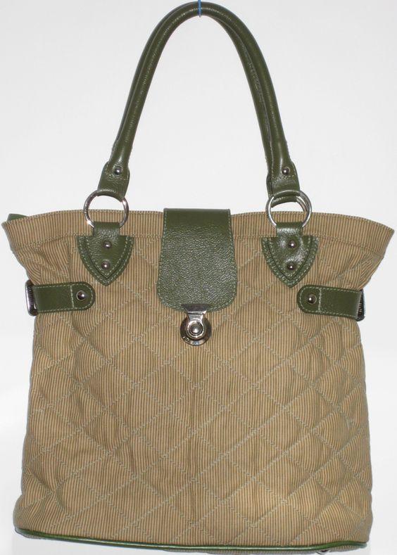 Bolsa tecido e couro Bello Quilt