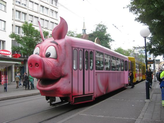 Tram in Basel   Ok so wherever this Basel place is, I wanna go.:
