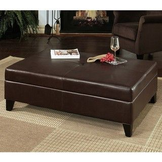 @Overstock - Constructed of solid wood and bycast leather, this Frankfurt storage ottoman features a long bench design and a flip-top storage space. This dark brown ottoman will give your home decor an elegant update.http://www.overstock.com/Home-Garden/Frankfurt-Leather-Flip-top-Storage-Ottoman/5277801/product.html?CID=214117 $284.39