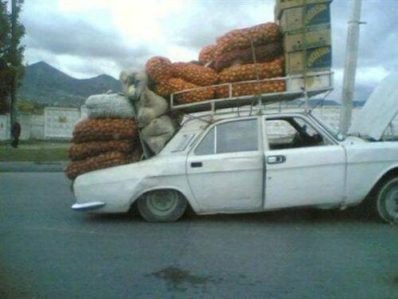 Transporte de patatas