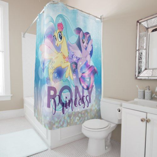 My Little Pony Skystar And Twilight Princess Shower Curtain