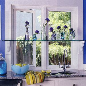 Unique and Stylish Kitchen Window Treatments - Decorate with Bottles: